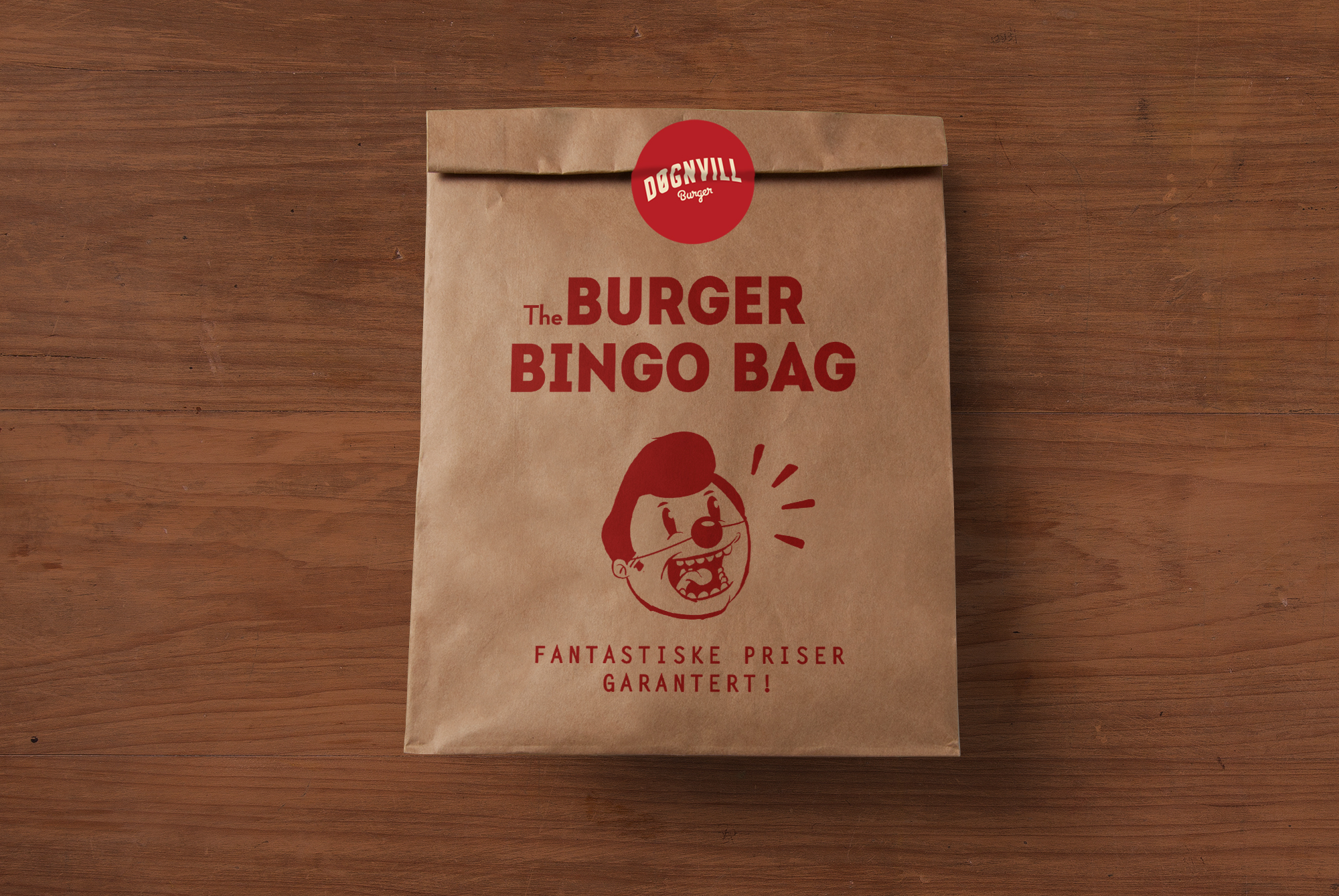Døgnvill Burger - Burger Bingo Bag