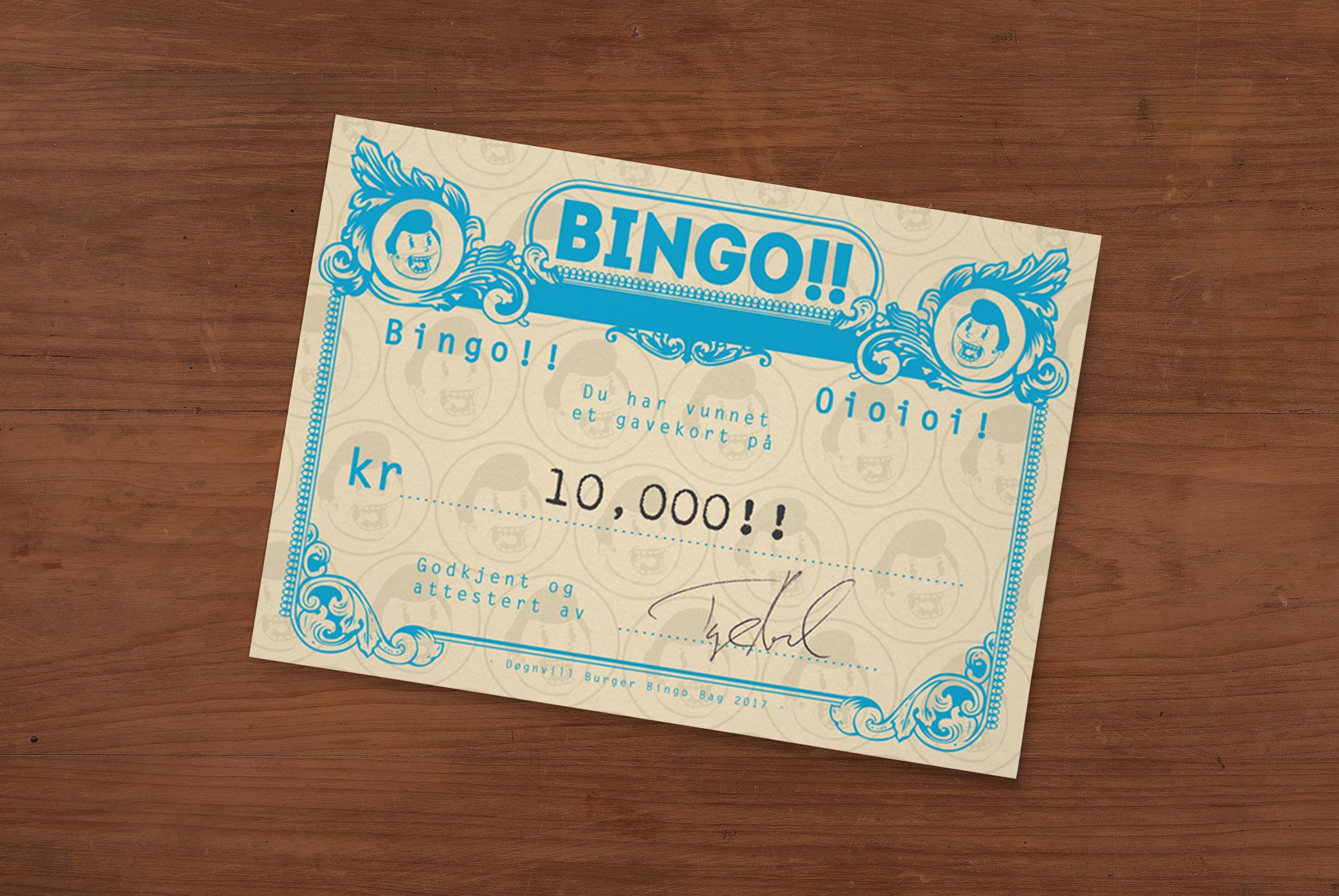 Døgnvill Burger Bingo Winner 1