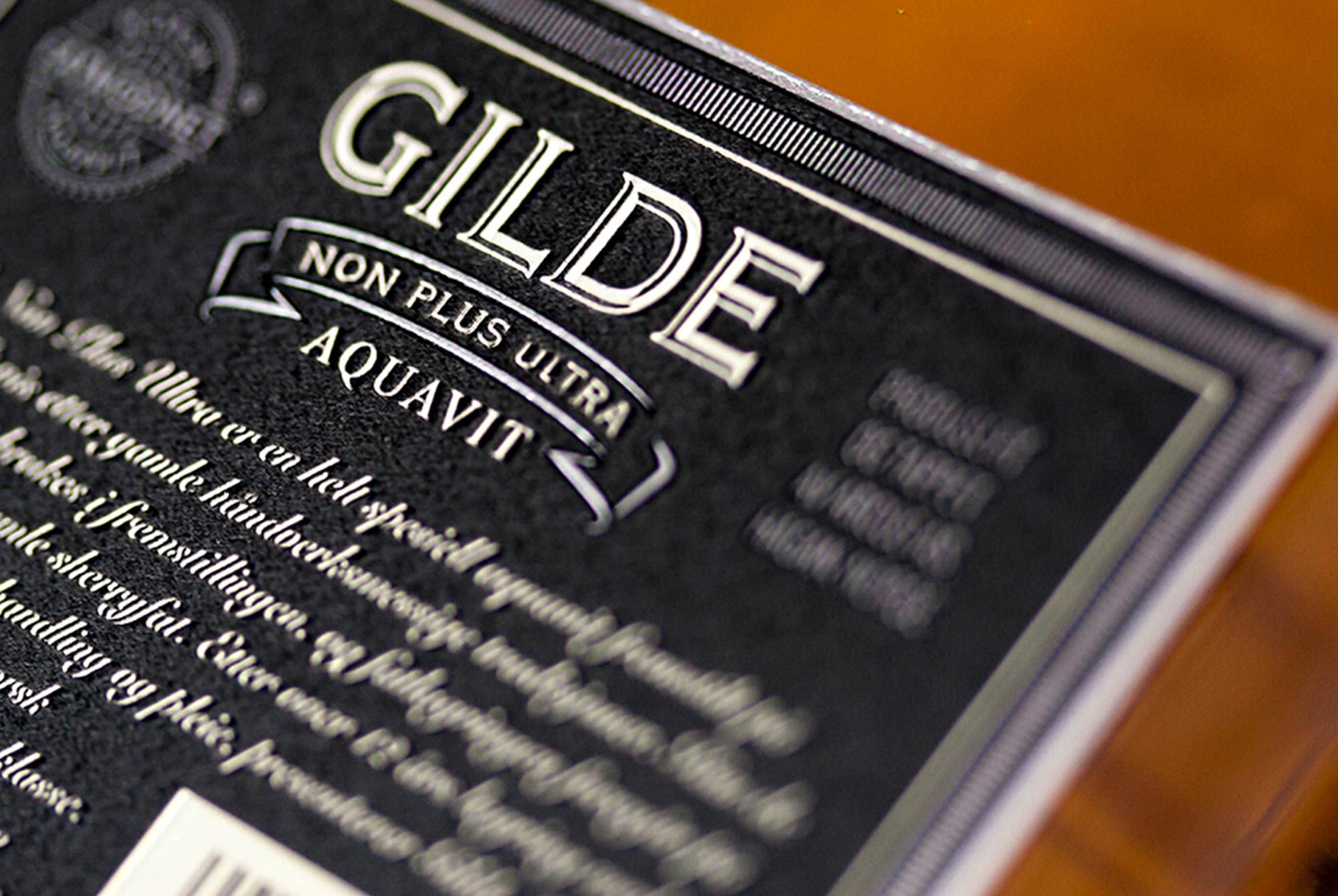 Gilde Aquavit Non Plus Ultra - Back detail