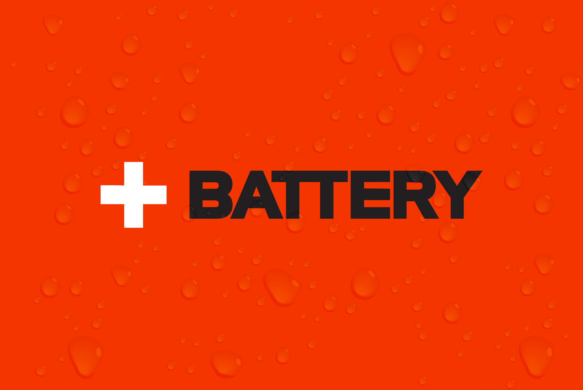 Battery - Logo with Drops