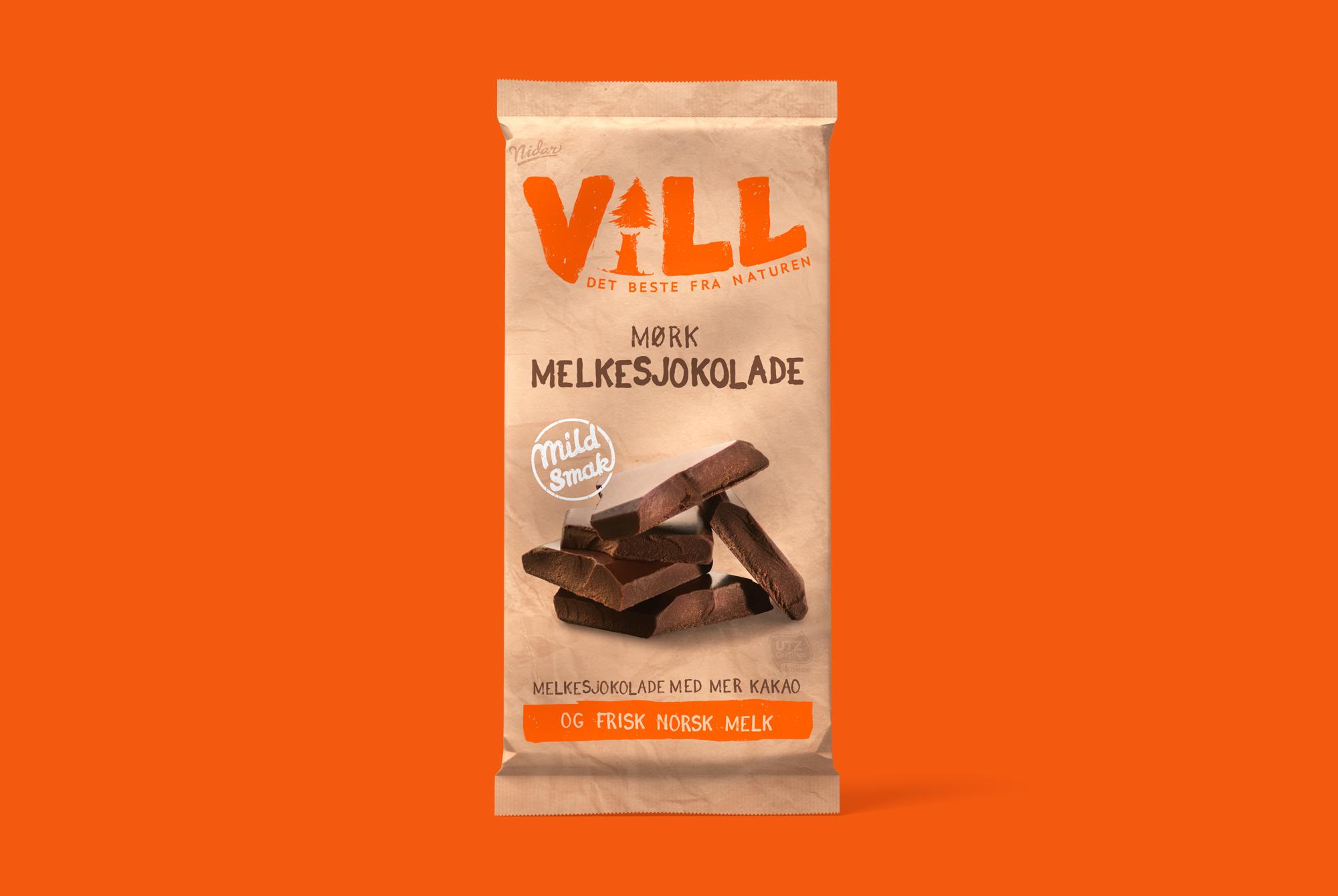 vill - Mork Melkesjokolade 100g
