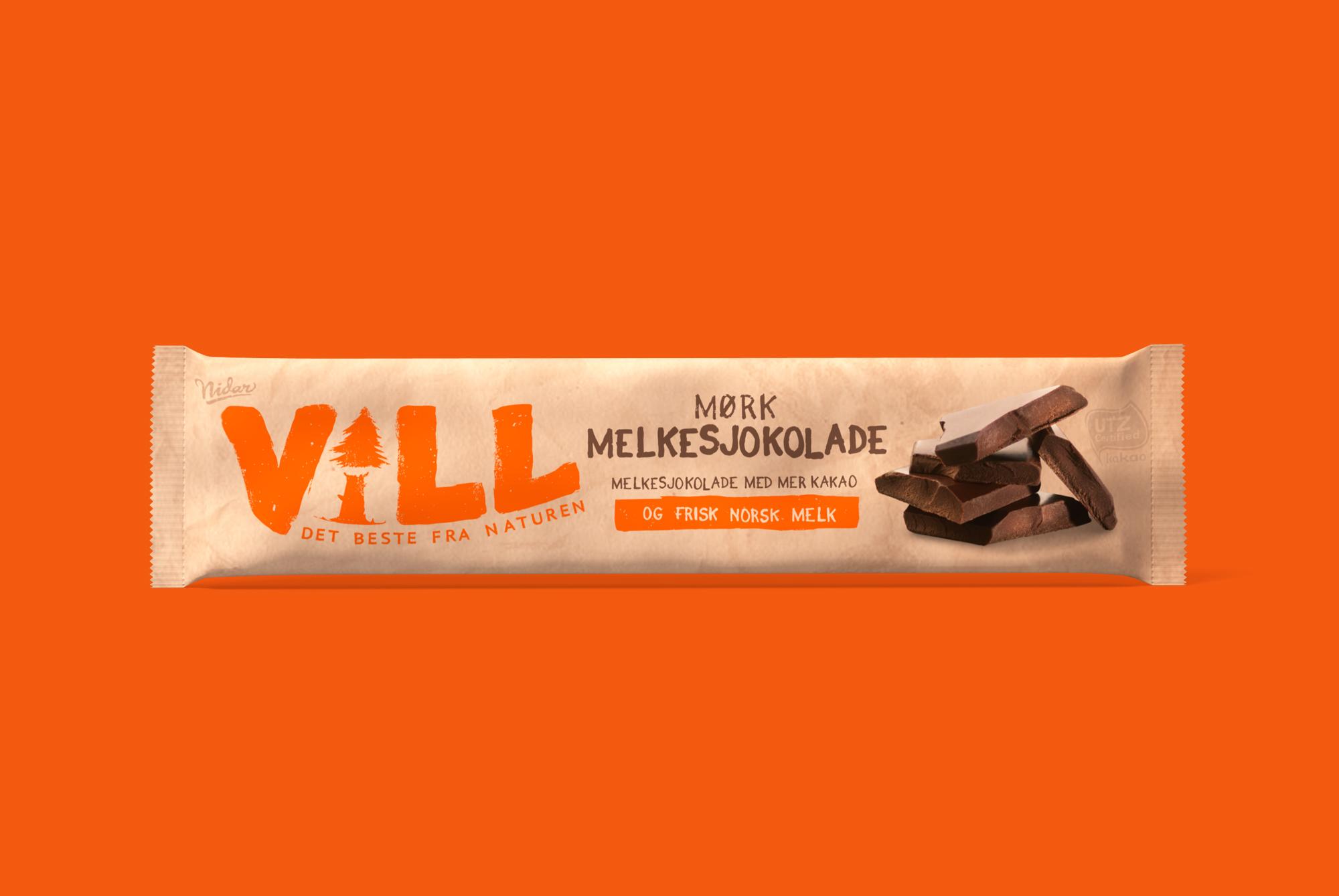 Vill - Mørk Melkesjokolade 24g
