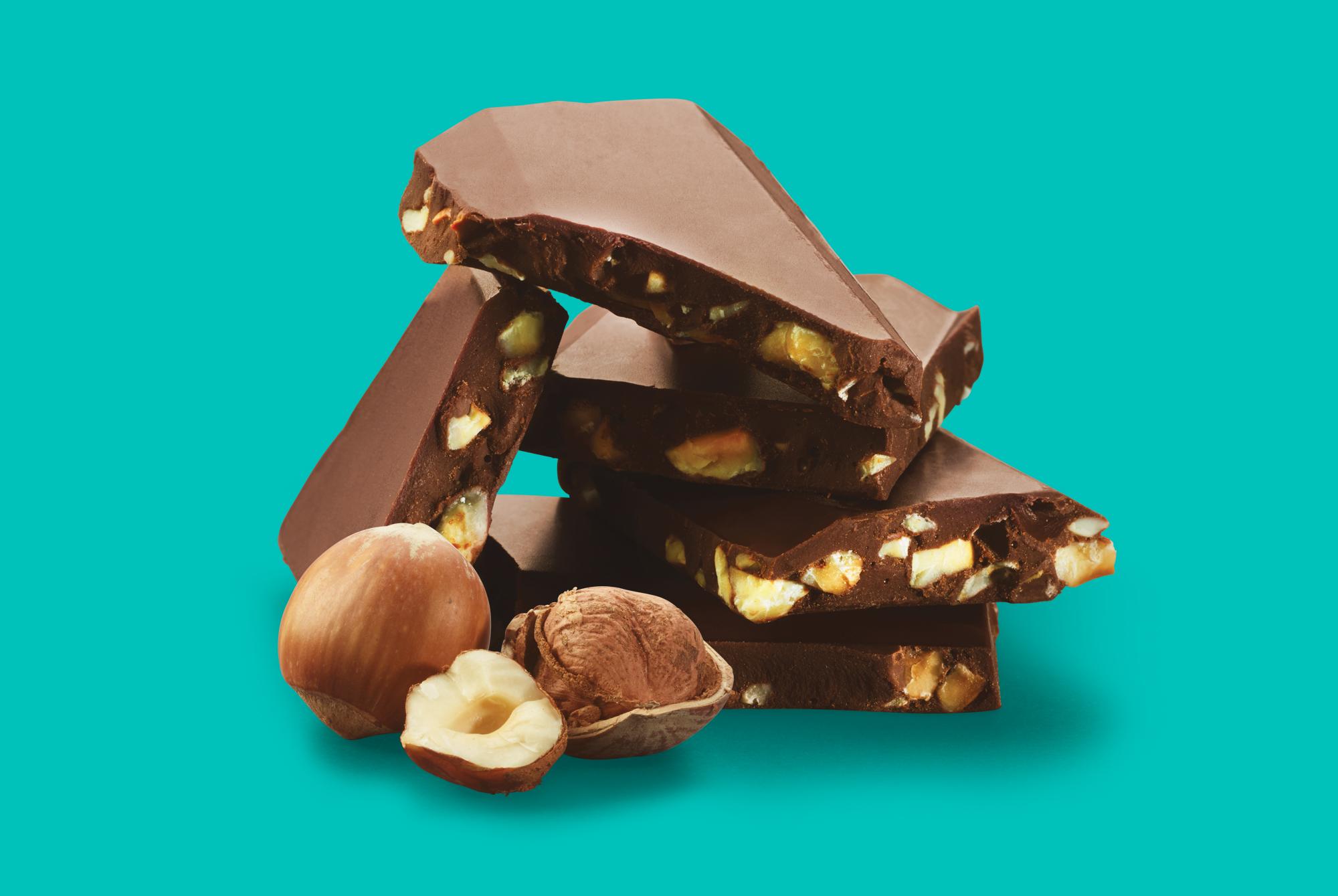 Nidar vill sjokolade hasselnøtt pieces